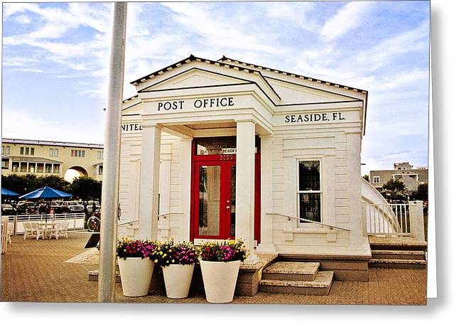Seaside Post Office Greeting Card by Scott Pellegrin