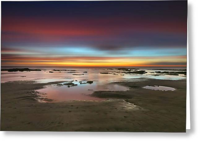 Seaside Reef Sunset 14 Greeting Card by Larry Marshall
