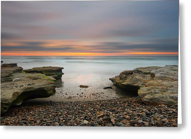 California Art Greeting Cards - Seaside Reef Sunset 16 Greeting Card by Larry Marshall