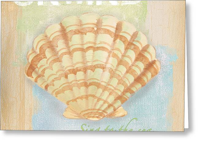 Jelly Fish Paintings Greeting Cards - Seaside Retreat-B Greeting Card by Jean Plout