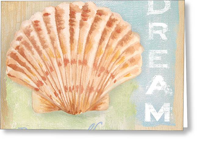 Jelly Fish Paintings Greeting Cards - Seaside Retreat-D Greeting Card by Jean Plout