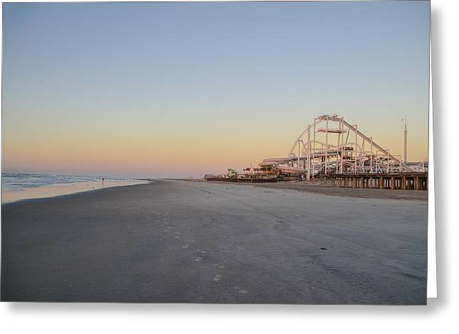 Seaside Digital Greeting Cards - Seaside Roller Coaster - Wildwood New Jersey Greeting Card by Bill Cannon