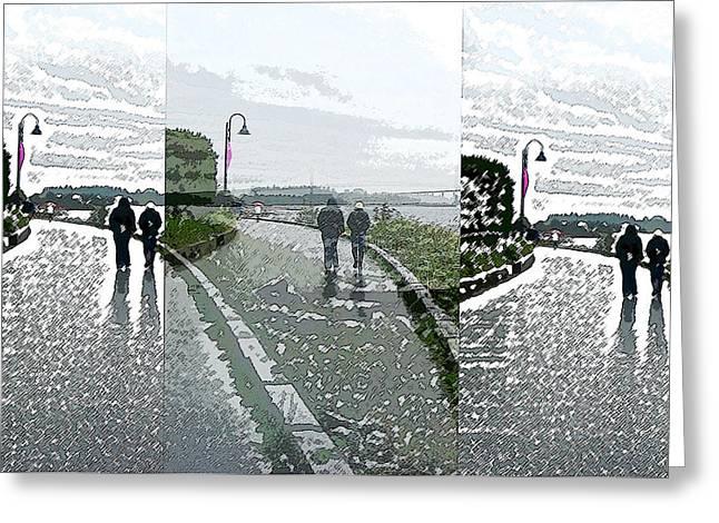 Lions Gate Bridge Digital Greeting Cards - Seaside Stroll Greeting Card by Gretchen Wrede