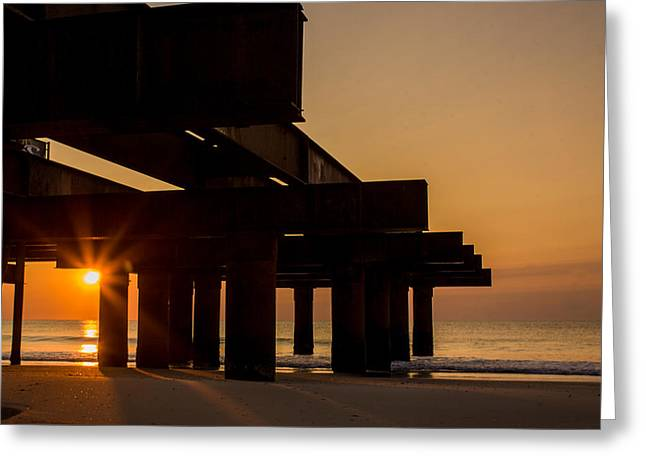 Casino Pier Greeting Cards - Seaside sunrise Greeting Card by Bill Terlecki