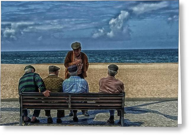 Pensioners Greeting Cards - Seaside Tales Greeting Card by Mountain Dreams