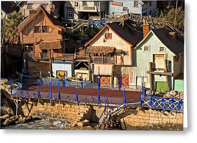 Clapboard House Greeting Cards - Seaside Village In Malta Greeting Card by Tim Holt