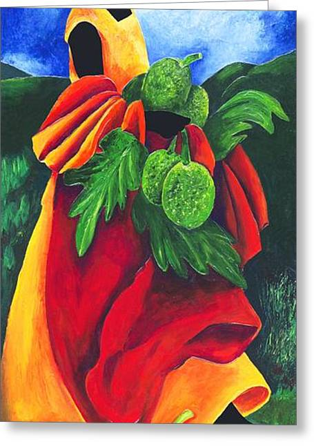 Modern Art Greeting Cards - Season Breadfruit Greeting Card by Patricia Brintle