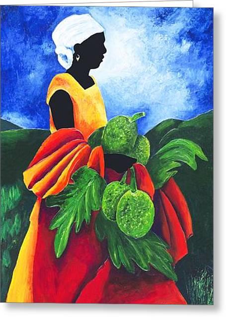 Season Breadfruit Greeting Card by Patricia Brintle