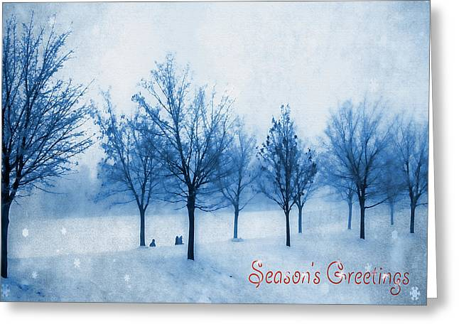 Solstice Greeting Cards Greeting Cards - Season of Greetings Greeting Card by Kathy Bassett