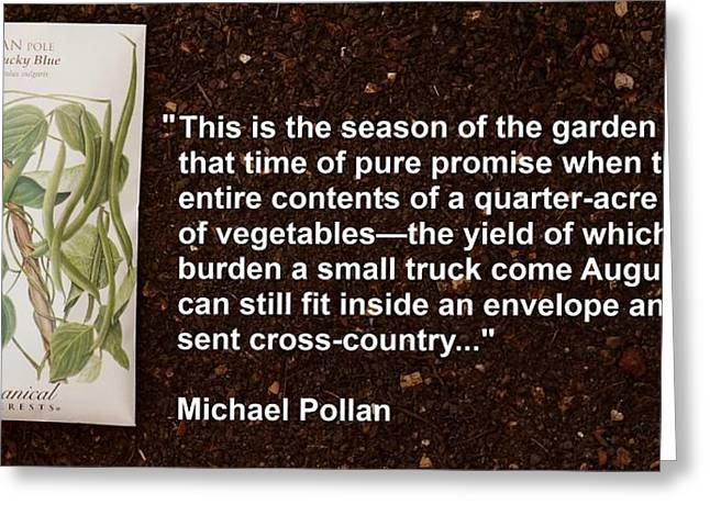 Local Food Greeting Cards - Season of the Garden Seed Greeting Card by Jon Simmons