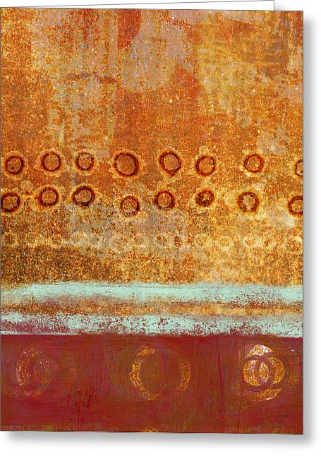Monoprint Greeting Cards - Seasonal Shift Greeting Card by Carol Leigh