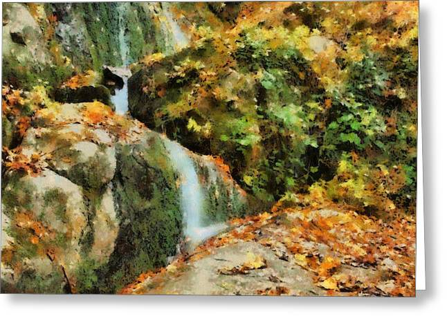 Reds Of Autumn Mixed Media Greeting Cards - Seasonal Solace Greeting Card by Dan Sproul