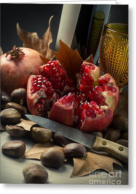 Warm Tones Photographs Greeting Cards - Seasonal Still-life Greeting Card by Carlos Caetano