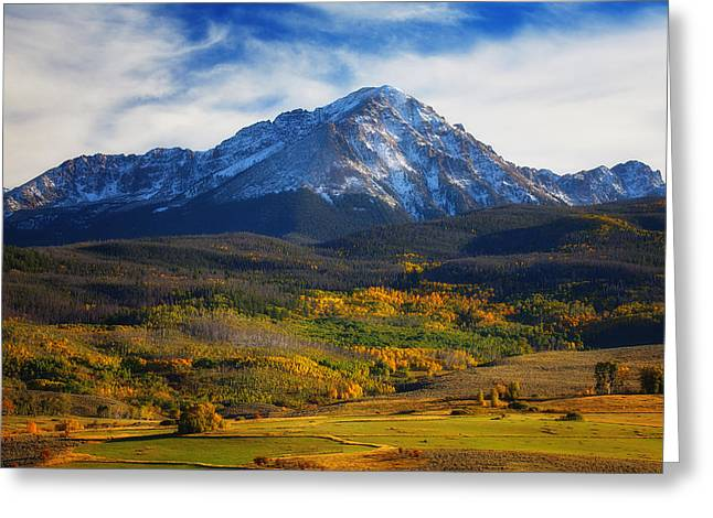 Colors Of Autumn Greeting Cards - Seasons Change Greeting Card by Darren  White