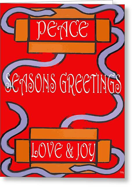 Wishes Mixed Media Greeting Cards - Seasons Greetings 102 Greeting Card by Patrick J Murphy