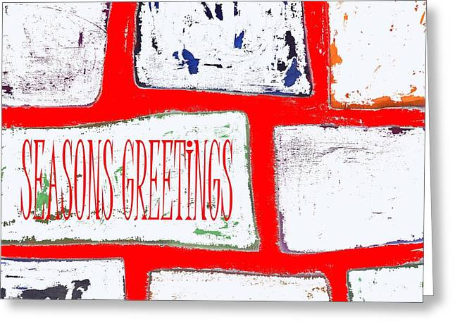 Wishes Mixed Media Greeting Cards - Seasons Greetings 103 Greeting Card by Patrick J Murphy