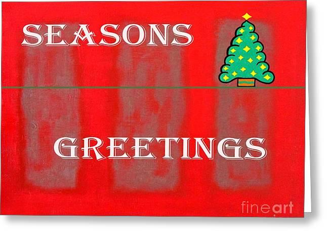 Snow Tree Prints Mixed Media Greeting Cards - Seasons Greetings 12 Greeting Card by Patrick J Murphy