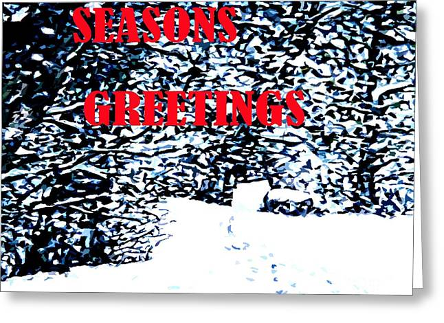 Snow Tree Prints Greeting Cards - Seasons Greetings 24 Greeting Card by Patrick J Murphy