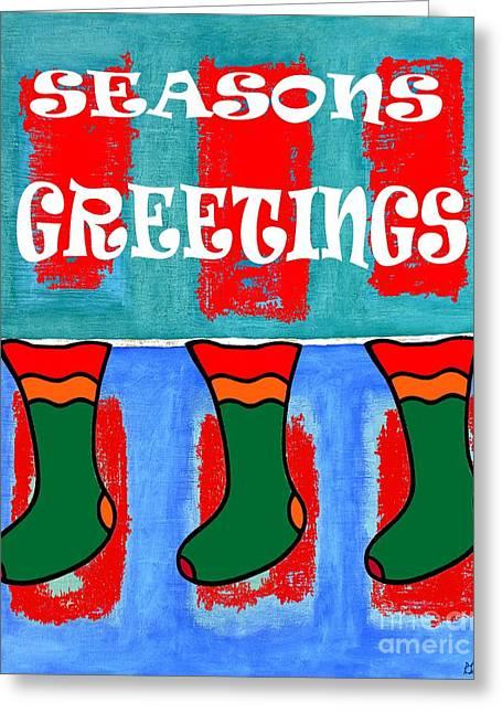Child Jesus Mixed Media Greeting Cards - Seasons Greetings 6 Greeting Card by Patrick J Murphy