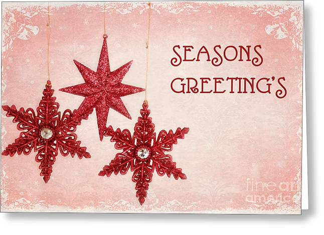 Christs Birthday Greeting Cards - Seasons Greetings Greeting Card by Carolyn Rauh
