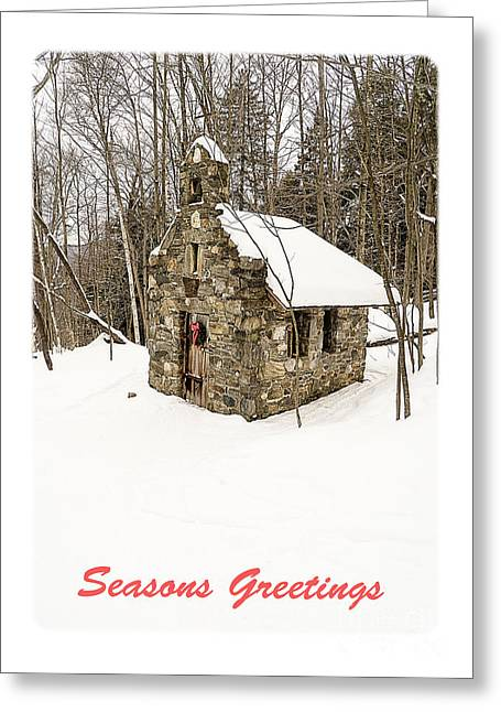 Skiing Christmas Cards Greeting Cards - Seasons Greetings Christmas Card Greeting Card by Edward Fielding