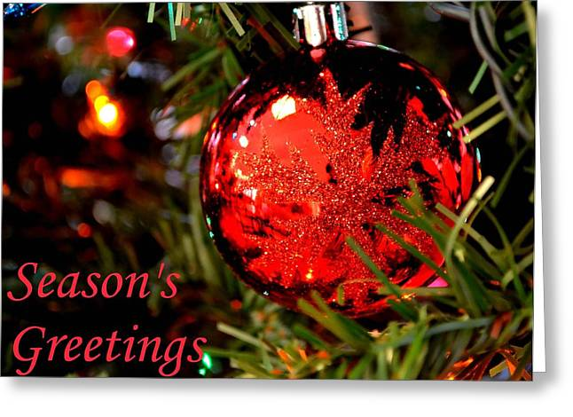 Wishes Greeting Cards - Seasons Greetings Greeting Card by Deena Stoddard