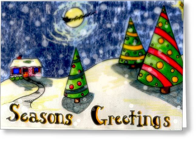 Jame Hayes Digital Art Greeting Cards - Seasons Greetings Greeting Card by Jame Hayes
