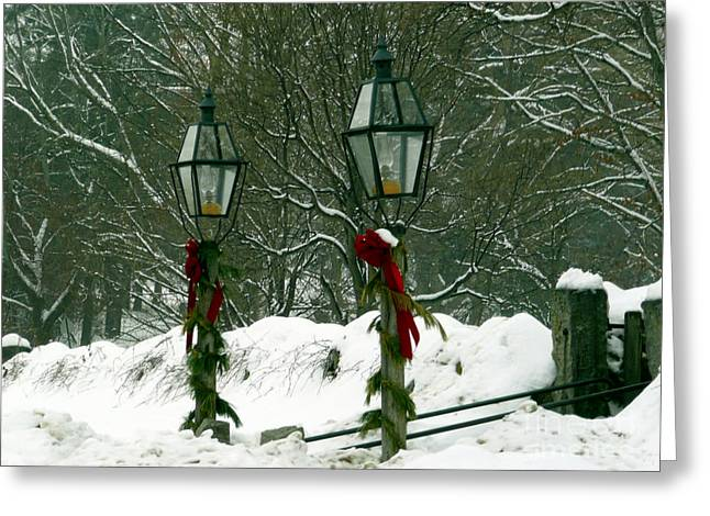 Sudbury Ma Greeting Cards - Seasons Greetings Greeting Card by Jayne Carney