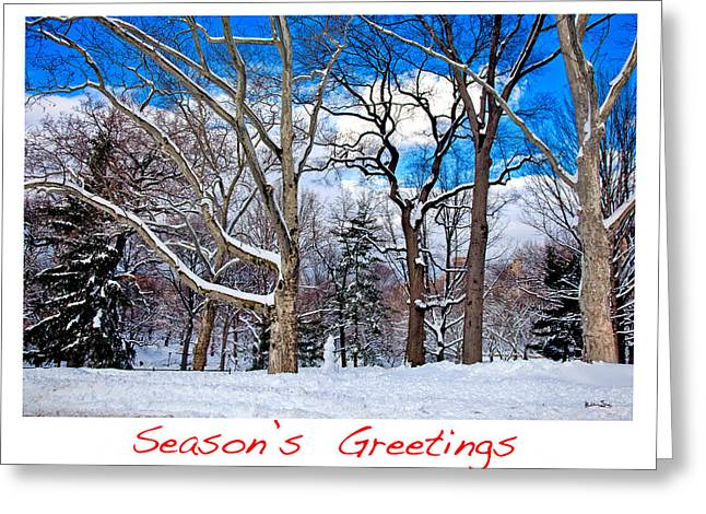 Snowy Day Greeting Cards - Seasons Greetings Greeting Card by Madeline Ellis