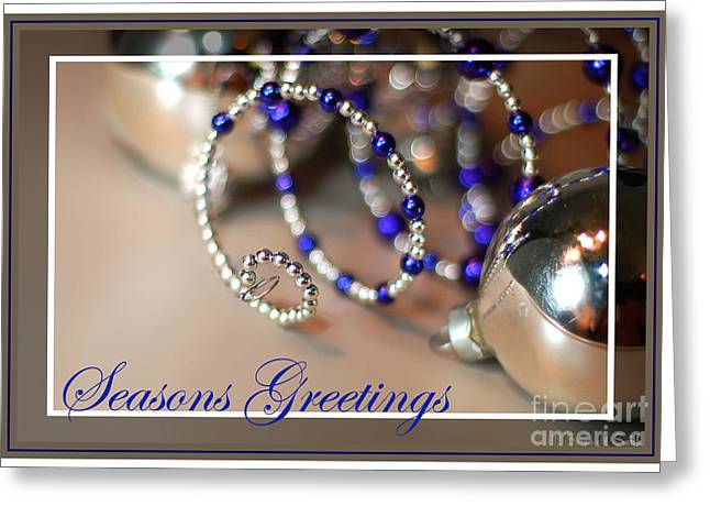 Susan M. Smith Greeting Cards - Seasons Greetings Spiral Greeting Card by Susan Smith