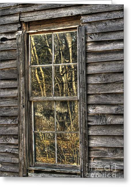 Old Wood Cabin Greeting Cards - Seasons Past Greeting Card by Benanne Stiens