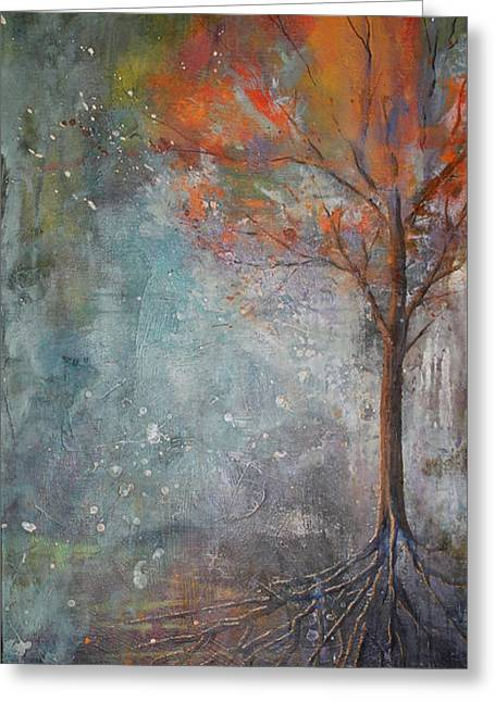 Tree Roots Mixed Media Greeting Cards - Seasons Greeting Card by Roland Benoit