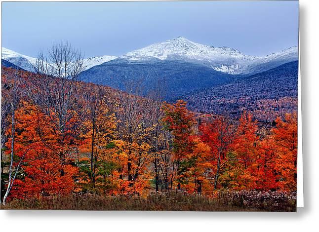 Snow Capped Greeting Cards - Seasons Shift #2 - Mount Washington - White Mountains Greeting Card by Nikolyn McDonald