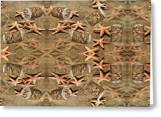 Sea Animals Greeting Cards - Seastar Large Banner II Greeting Card by Betsy C  Knapp