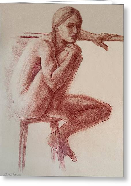 Seated At The Barre Greeting Card by Sarah Parks