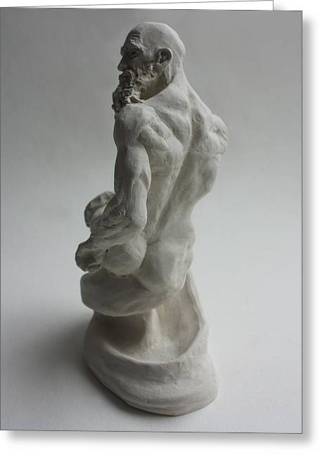 Nude Sculptures Greeting Cards - Seated Genie  Greeting Card by Derrick Higgins