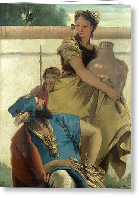 Giovanni Battista Tiepolo Greeting Cards - Seated Man Woman with Jar and Boy Greeting Card by Giovanni Battista Tiepolo