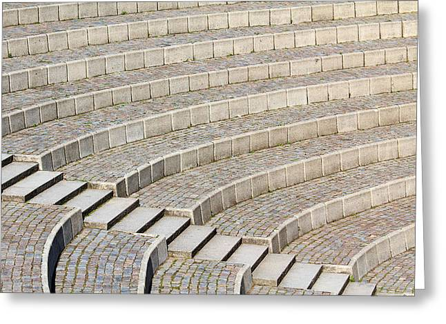 Outdoor Theater Greeting Cards - Seating and stairs Greeting Card by Stephan Stockinger
