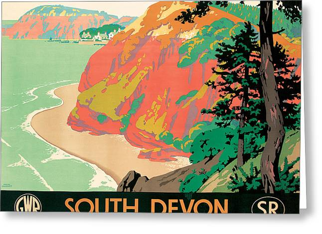 1930s Greeting Cards - Seaton in Devon Greeting Card by Kenneth Shoesmith
