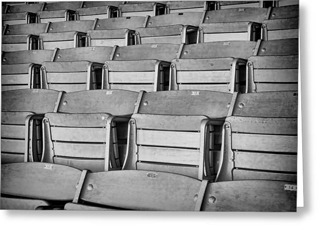 Empty Chairs Greeting Cards - seats 5810BW Greeting Card by Rudy Umans