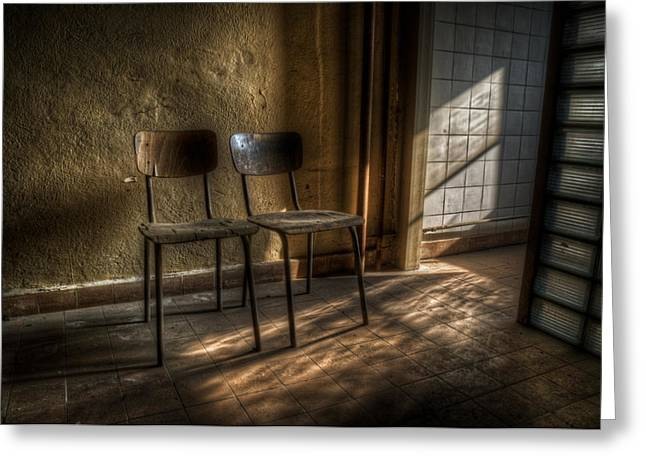 Electrical Device Greeting Cards - Seats for two Greeting Card by Nathan Wright