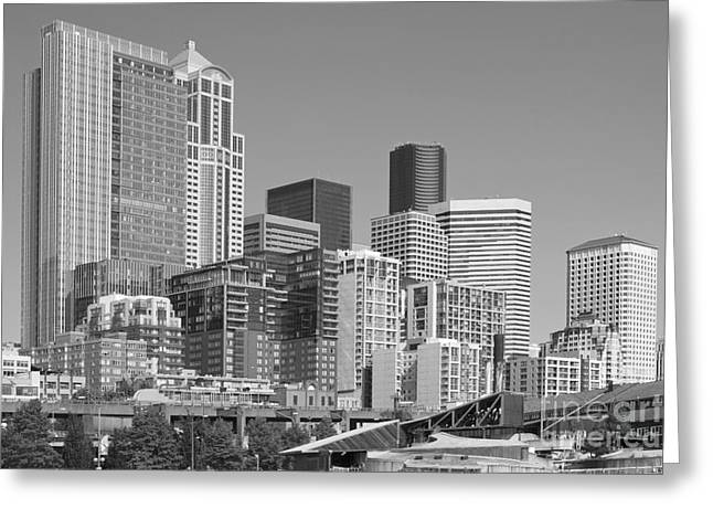 Alaskan Architecture Greeting Cards - Seattle architecture Greeting Card by Bill Cobb