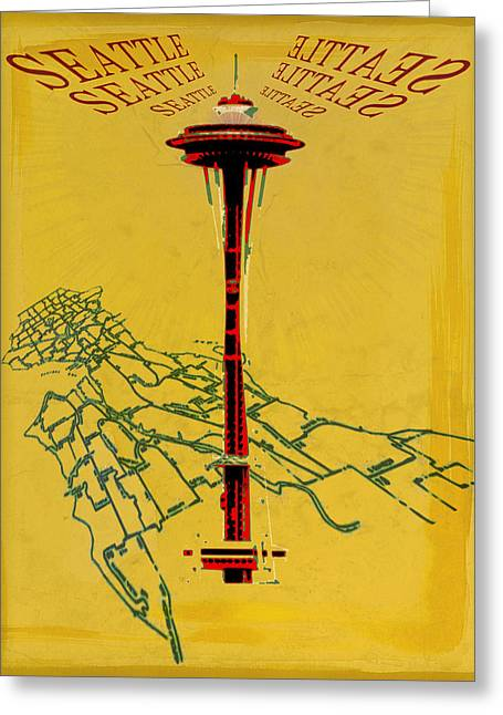 Seattle Calling Greeting Card by Sandstone Inc
