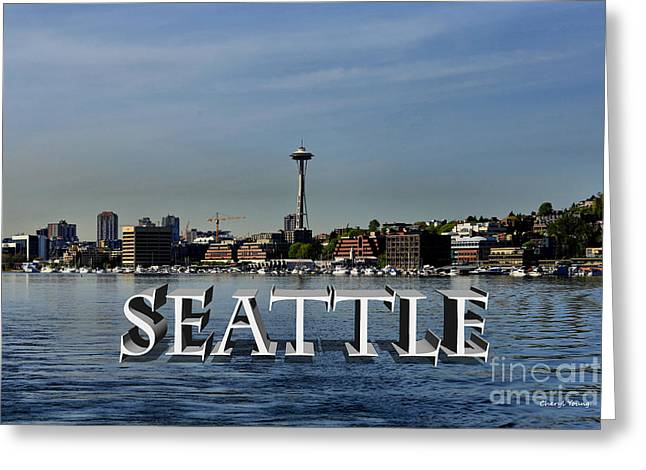 Lake Union Greeting Cards - Seattle Greeting Card by Cheryl Young
