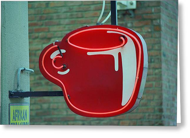 Seattle Framed Prints Greeting Cards - Seattle Coffee Shop Greeting Card by Frank Romeo