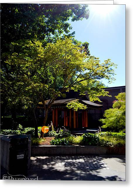 Seattle Japanese Garden Greeting Card by Guinapora Graphics