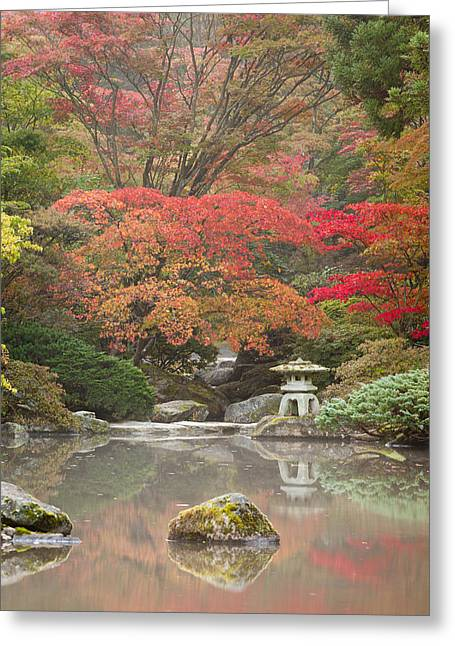 Japanese Photographs Greeting Cards - Seattle Japanese Garden Greeting Card by Thorsten Scheuermann