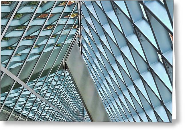 Subtle Colors Greeting Cards - Seattle Library Reading Room 3 Greeting Card by Allen Beatty