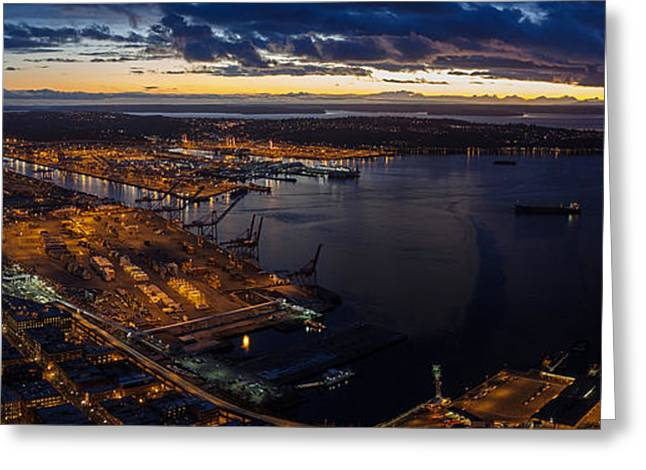 Seattle Monday Night Football Greeting Card by Mike Reid