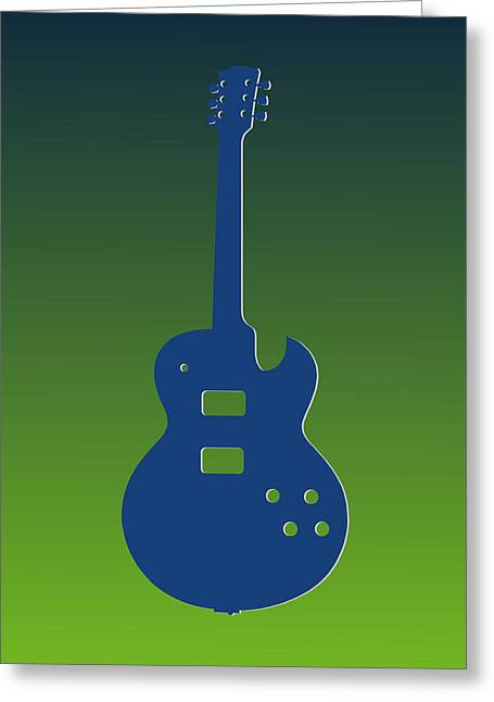 Concert Bands Photographs Greeting Cards - Seattle Seahawks Guitar Greeting Card by Joe Hamilton